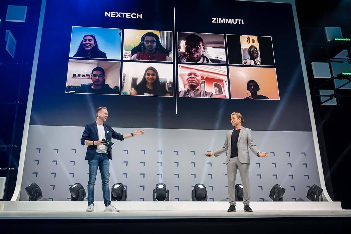 Moderator beim Greentech Festival 2021 mit Nico Rosberg