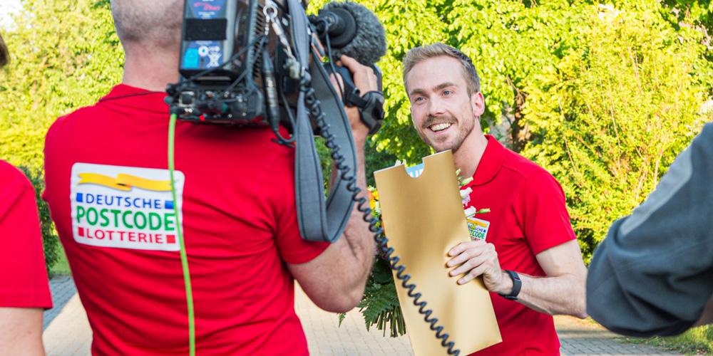 Felix Uhlig als Moderator für die Deutsche Postcode Lotterie
