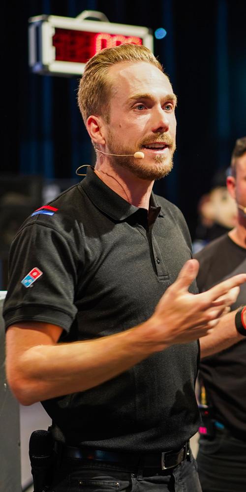 Moderator beim Domino's Pizza Baker Contest