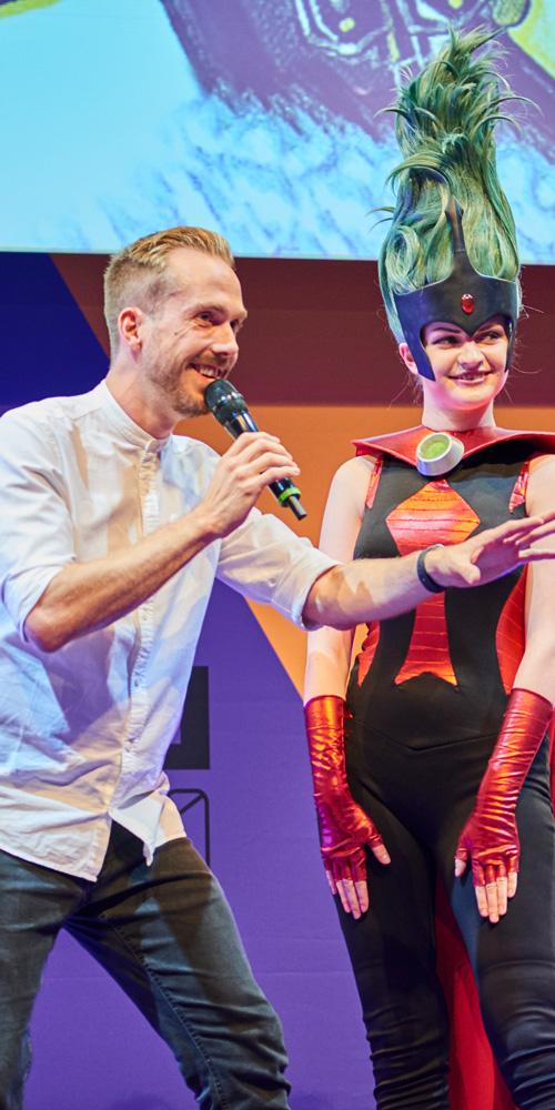 Moderator für Faber-Castell bei der CCXP in Köln