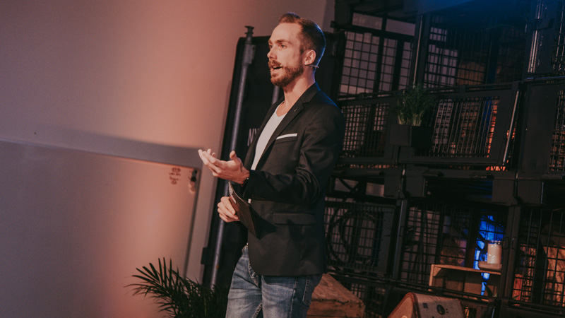 Airbus Hackathon Event-Moderator Felix Uhlig