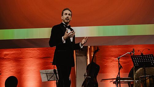 Gala-Moderator Felix Uhlig