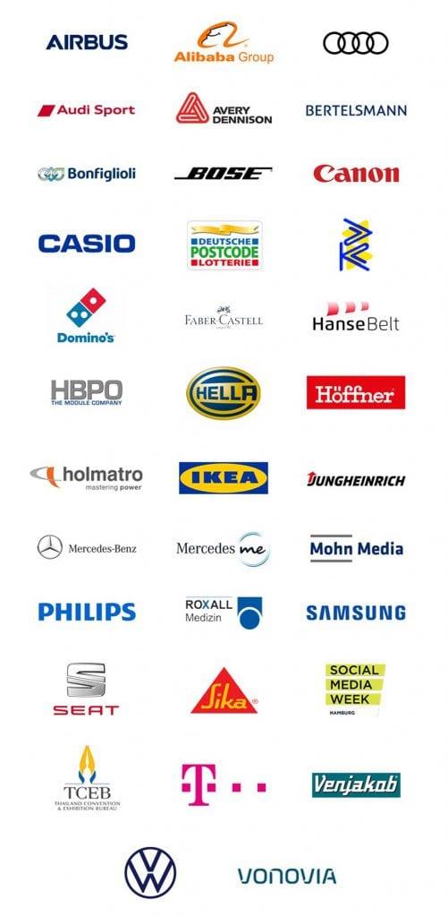 Felix Uhlig Moderator Kunden Logos