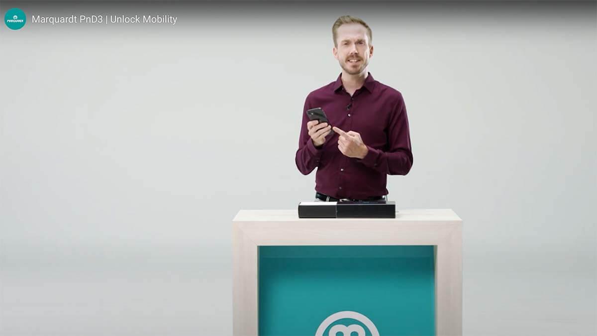 Moderator der Produktpräsentation für Marquardt der PnD3