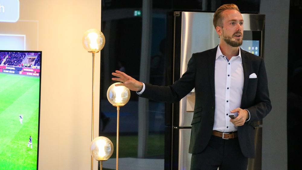 Messe-Moderator für Samsung bei der IFA in Berlin