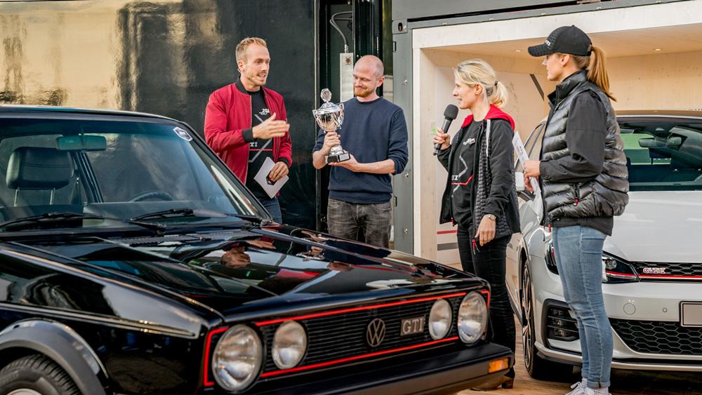 Event-Moderator Felix Uhlig in Wolfsburg beim GTI Treffen Homecoming von Volkswagen